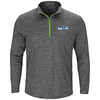 Men's Majestic Seattle Seahawks Intimidating Half-Zip Top