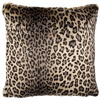 Safavieh Faux Black Leopard Throw Pillow