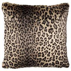 Safavieh Faux Black Leopard Throw Pillow