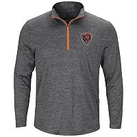 Men's Majestic Chicago Bears Intimidating Half-Zip Top