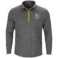 Men's Majestic Minnesota Vikings Intimidating Half-Zip Top
