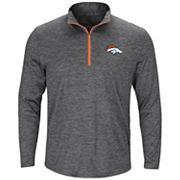 Men's Majestic Denver Broncos Intimidating Half-Zip Top