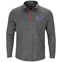Men's Majestic Buffalo Bills Intimidating Half-Zip Top