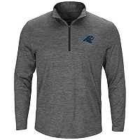 Men's Majestic Carolina Panthers Intimidating Half-Zip Top