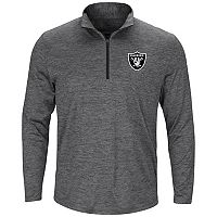 Men's Majestic Oakland Raiders Intimidating Half-Zip Top