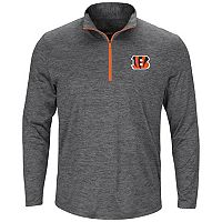 Men's Majestic Cincinnati Bengals Intimidating Half-Zip Top