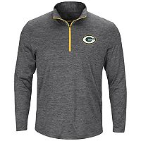Men's Majestic Green Bay Packers Intimidating Half-Zip Top