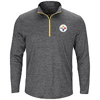 Men's Majestic Pittsburgh Steelers Intimidating Half-Zip Top