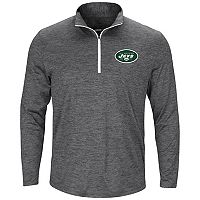 Men's Majestic New York Jets Intimidating Half-Zip Top