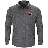 Men's Majestic Arizona Cardinals Intimidating Half-Zip Top