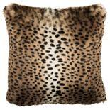 Safavieh Leopard Faux Fur Throw Pillow