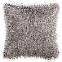Safavieh Peacock Luxe Faux Fur Throw Pillow