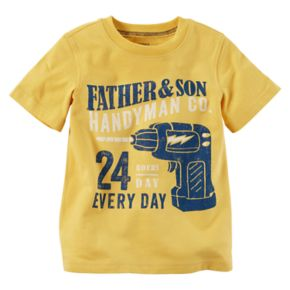 "Toddler Boy Carter's ""Father & Son Handyman Co."" Graphic Tee"