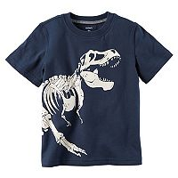 Toddler Boy Carter's Glow-In-The-Dark Dinosaur Skeleton Tee