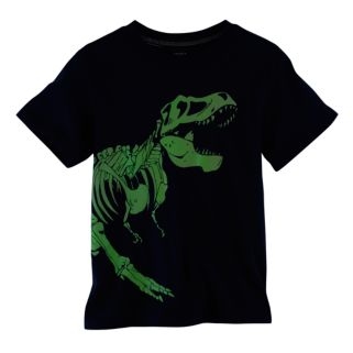 Toddler Boy Carter's Glow-In-The-Dark Dinosaur Skeleton Tee