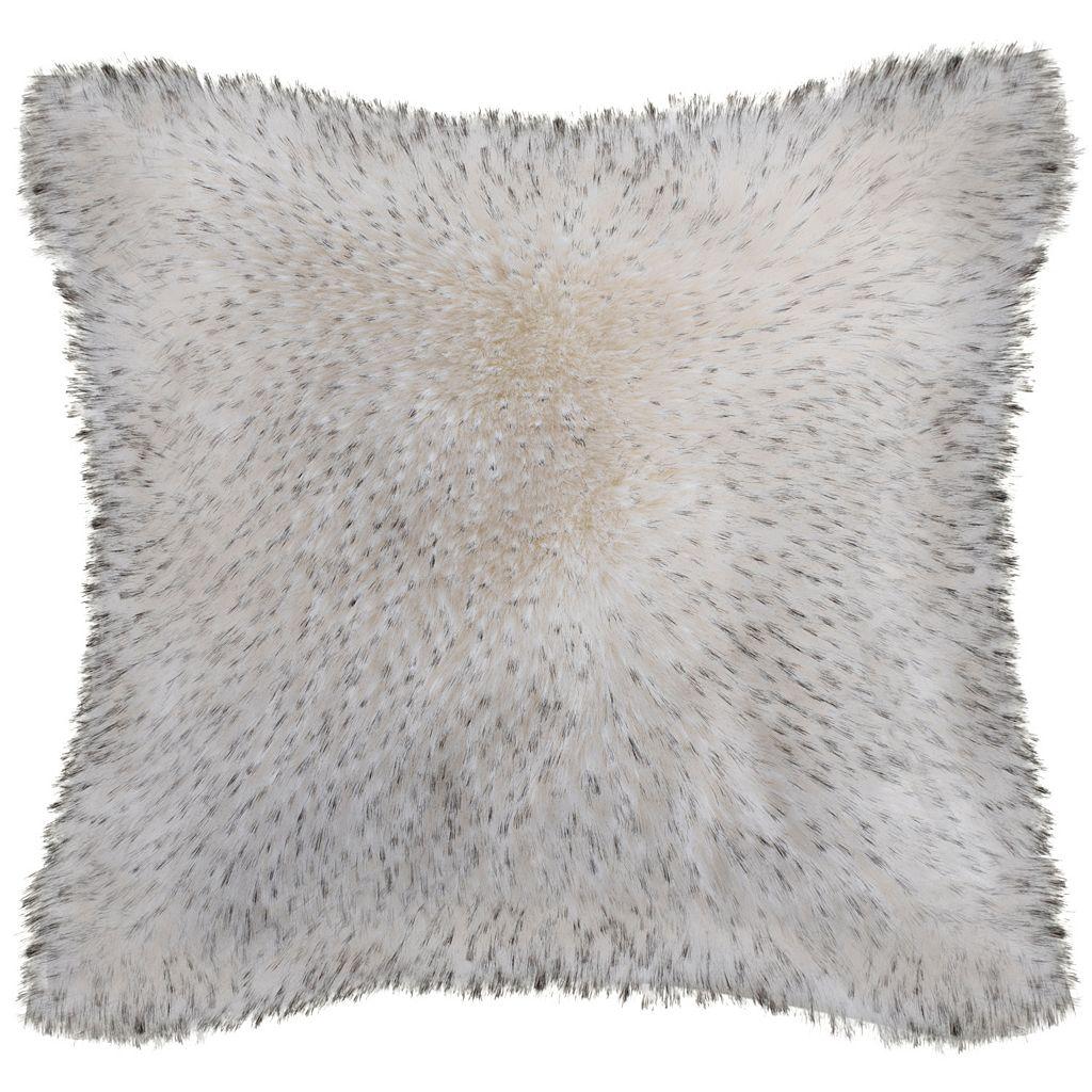 Safavieh Dalmation Tips Faux Fur Throw Pillow