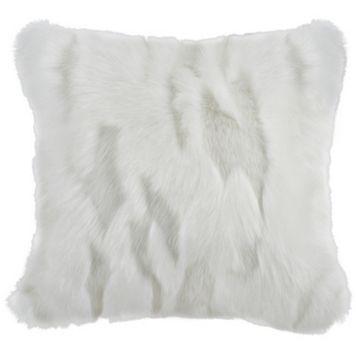 Safavieh Textured Faux Fur Throw Pillow