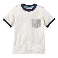 Toddler Boy Carter's Pocket Slubbed Contrast Ringer Tee