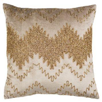 Safavieh Gold Sparkle Throw Pillow