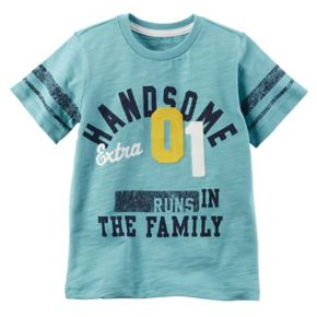 """Toddler Boy Carter's """"Extra Handsome Runs In The Family"""" Tee"""
