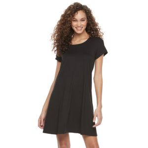 Women's Nina Leonard Lace-Up Trapeze Dress