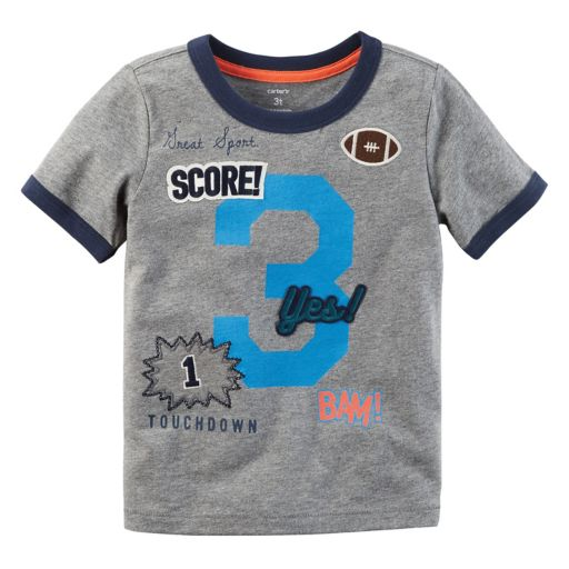 """Toddler Boy Carter's """"3"""" Patched Applique Graphic Tee"""