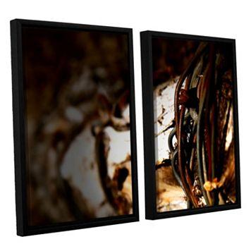 ArtWall Mend Rope & Tree Framed Wall Art 2-piece Set