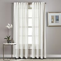 Curtainworks Diamond Patterned Sheer Curtain