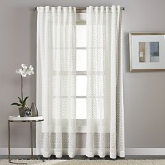 Window Curtainworks 1-Panel Diamond Patterned Sheer Window Curtain