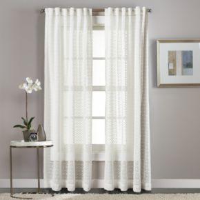 Window Curtainworks Diamond Patterned Sheer Window Curtain