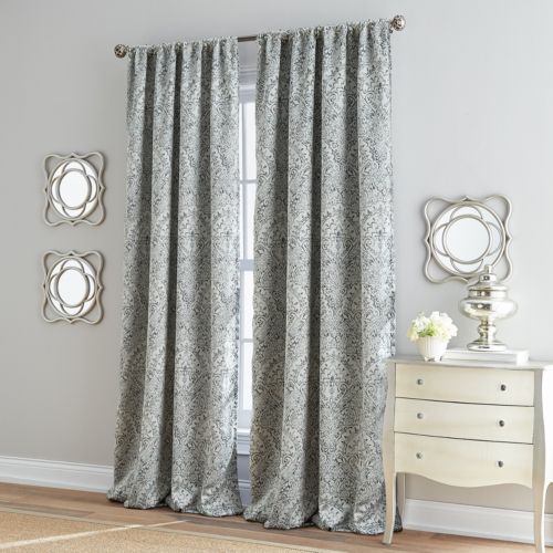 Damask Marlena Lined Curtain