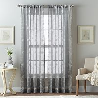 Leaf Embroidered Sheer Curtain