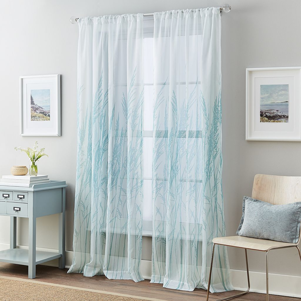 Fields of Meadow Tailored Voile Curtain