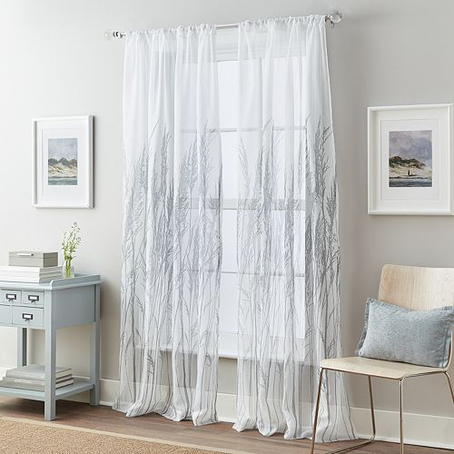 Fields of Meadow Tailored Voile Window Curtain
