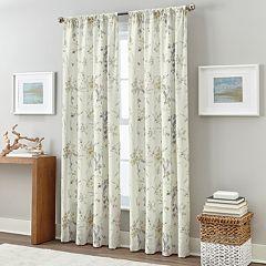 Floral Botany Print Window Curtain