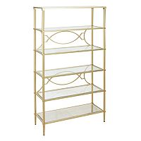 Madison Park Signature Turner Gold Finish Bookshelf