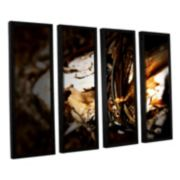 ArtWall Mend Rope & Tree Framed Wall Art 4-piece Set