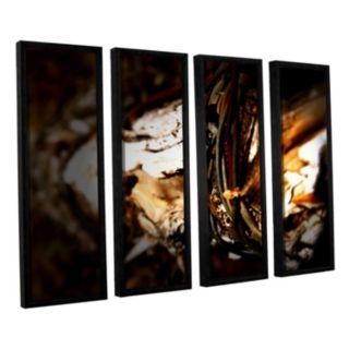 ArtWall Mend Rope & Tree Framed Wall Art 4-piece Set