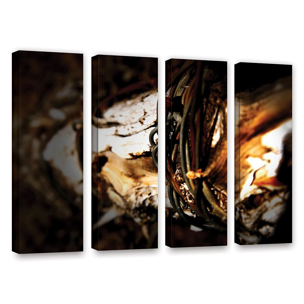ArtWall Mend Rope & Tree Canvas Wall Art 4-piece Set