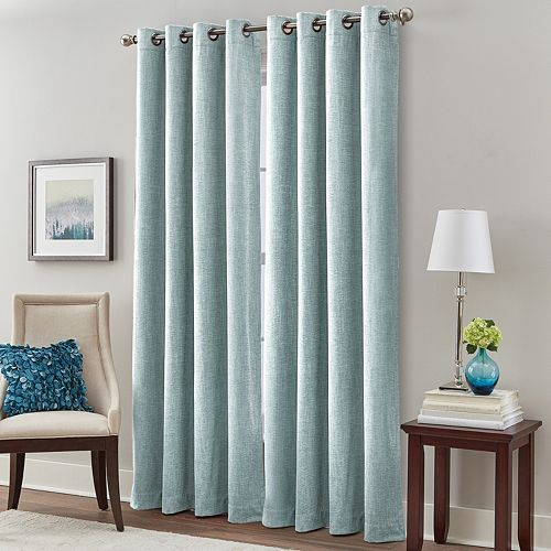 Majestic 1-Panel Chenille Room Darkening Window Curtain