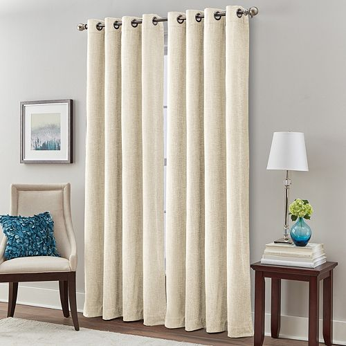 Majestic Chenille Room Darkening Window Curtain