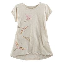 Girls 4-12 SONOMA Goods for Life™ Short-Sleeved Tee With Back Inset