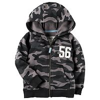 Toddler Boy Carter's Camouflage Zip Hoodie