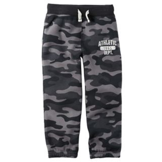 "Toddler Boy Carter's Camouflage ""Athletic Dept."" Fleece Pants"