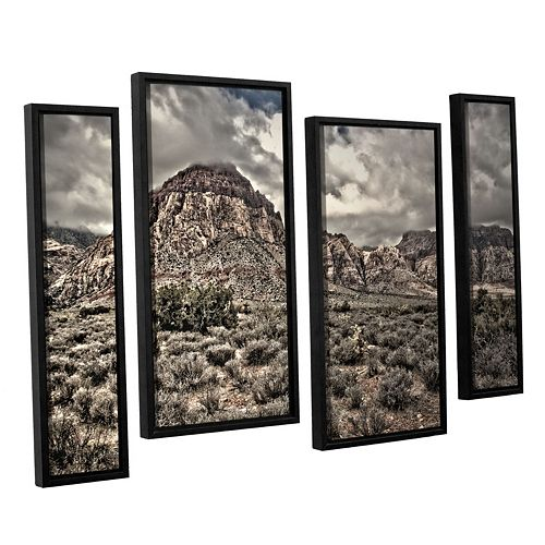 ArtWall ''No Distractions'' Staggered Framed Wall Art 4-piece Set