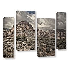 ArtWall ''No Distractions'' Staggered Canvas Wall Art 4 pc Set