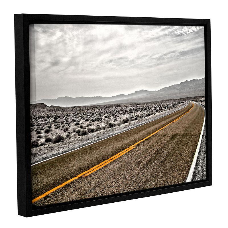 "ArtWall ""Slow Curves"" Framed Wall Art, Brown"