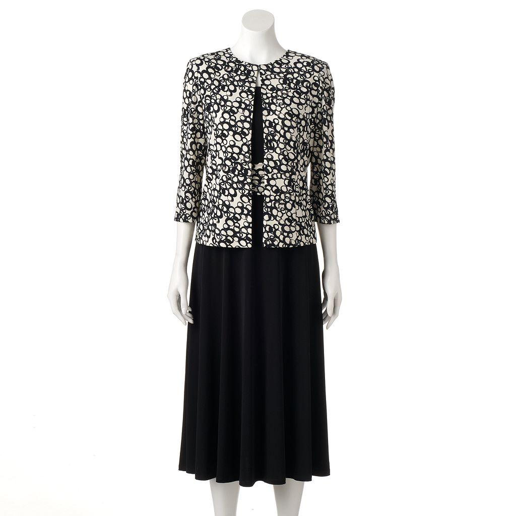 Women's Jessica Howard Abstract Geometric A-Line Dress & Jacket Set