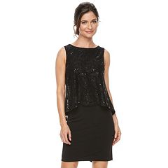 Women's Jessica Howard Sequin Popover Shift Dress