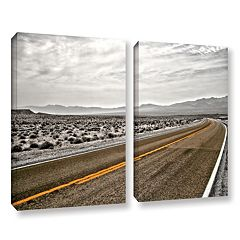 ArtWall ''Slow Curves'' Canvas Wall Art 2-piece Set